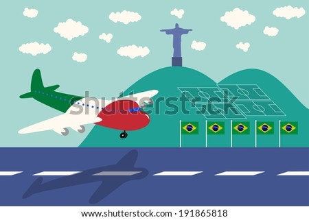 italy air plane arrival brazil