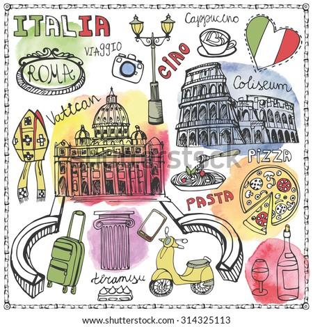 italy famous rome landmark...