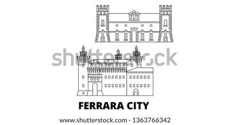 italy  ferrara city line travel