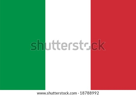 Italy flag - isolated vector illustration