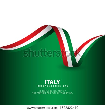 Italy Independence Day Vector Template Design Illustration Foto stock ©