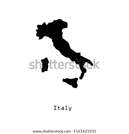 italy map icon in trendy flat