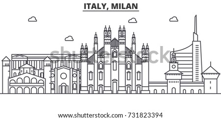 italy  milan architecture line