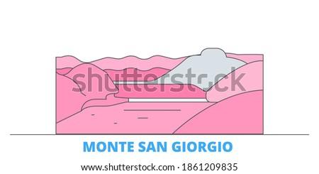 italy  monte san giorgio line