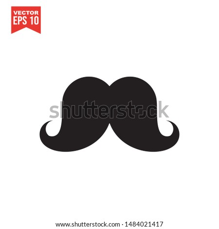 Italy mustache icon on white background. Simple illustration of italy mustache vector icon for web