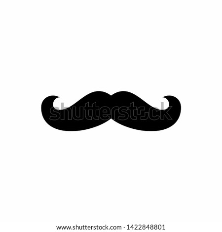 Italy mustache icon. Simple illustration of italy mustache vector icon for web