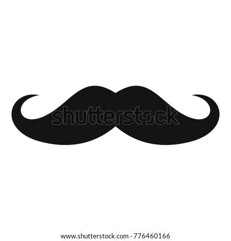 italy mustache icon simple
