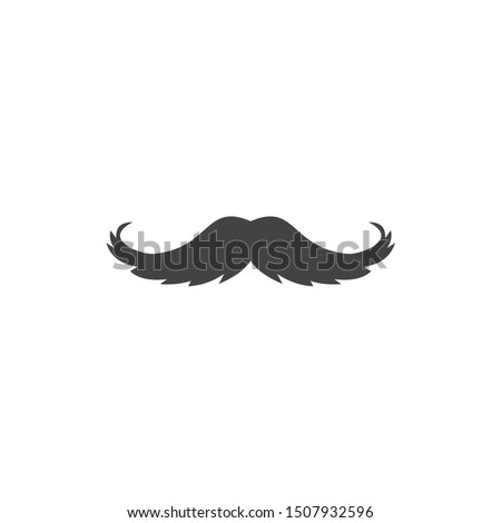 Italy mustache icon template color editable. Italy mustache symbol vector sign isolated on white background.