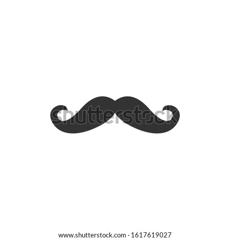 Italy mustache icon template color editable. Italy mustache symbol vector sign isolated on white background illustration for graphic and web design.