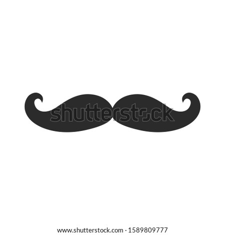 Italy mustache icon vector sign isolated for graphic and web design. Italy mustache symbol template color editable on white background, Thin linear graphic Eps10.