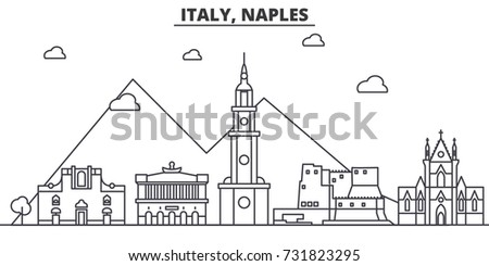 italy  naples architecture line
