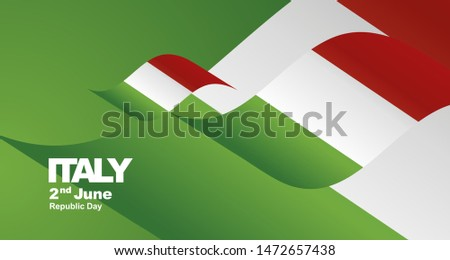 italy republic day flag ribbon