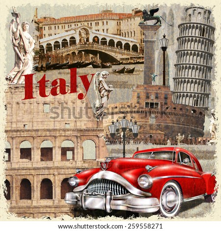 italy vintage poster.