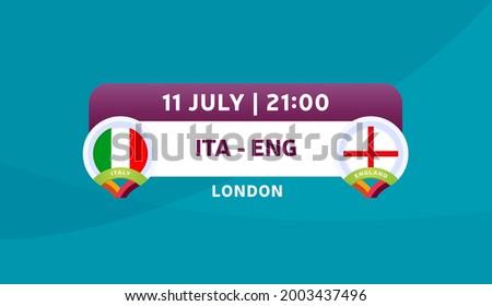 italy vs england match vector illustration Football euro 2020 championship  Foto d'archivio ©