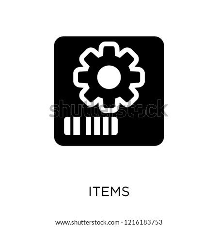 Items icon. Items symbol design from Web navigation collection. Simple element vector illustration on white background.