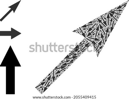 Itself recursive collage sharp arrow. Vector sharp arrow collage is made from repeating recursive sharp arrow parts. Flat illustration. Photo stock ©