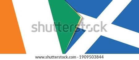 ivory coast and scotland flags
