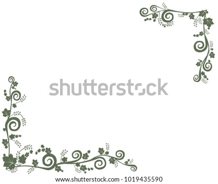 Ivy Frame Pattern In White Background
