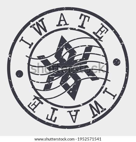 Iwate, Iwate District, Iwate, Japan Stamp Postal. Flag Silhouette Seal. Passport Round Design. Vector Icon. Design Retro Travel. National Symbol. Stock photo ©