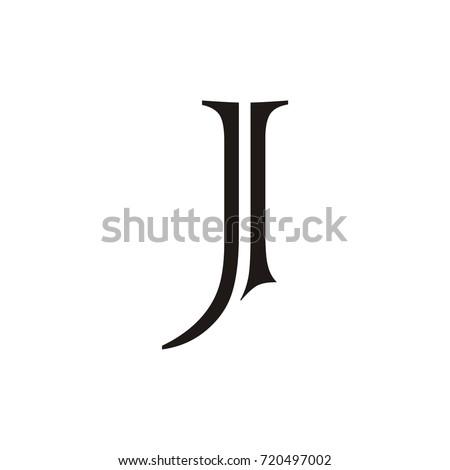 j and i letter vector logo