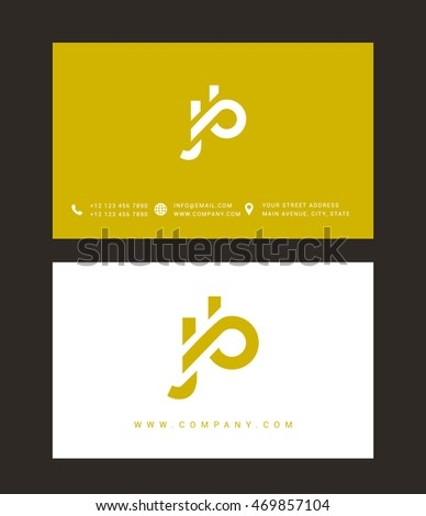 j   b letter logo  with