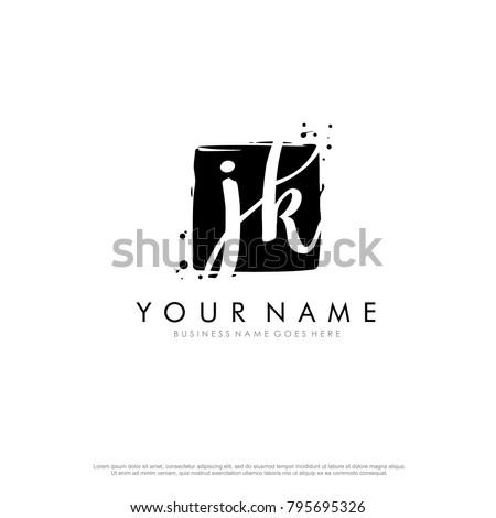 J K initial square logo template vector Stock fotó ©