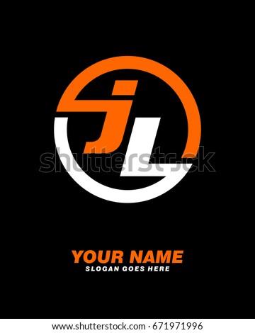 j l initial circle logo