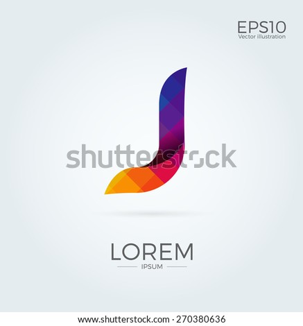 j letter logo icon mosaic