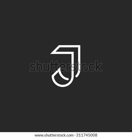 j letter logo monogram