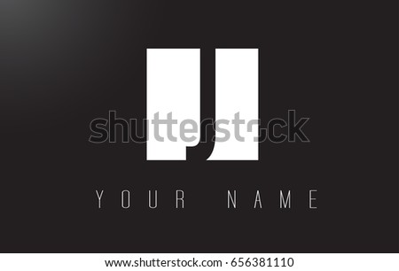 J Letter Logo With Black and White Letters Negative Space Design.