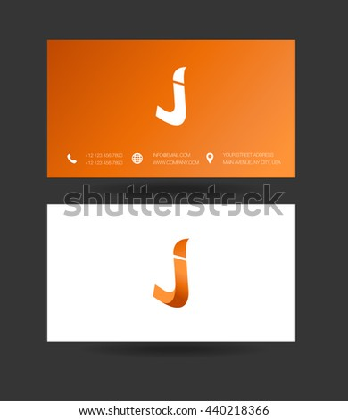 j letter logo with business