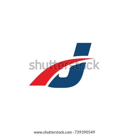 j logo  j initial overlapping