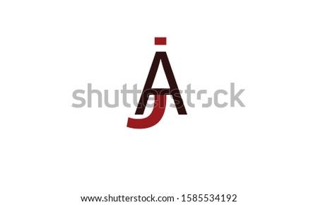 JA abstract vector logo monogram template