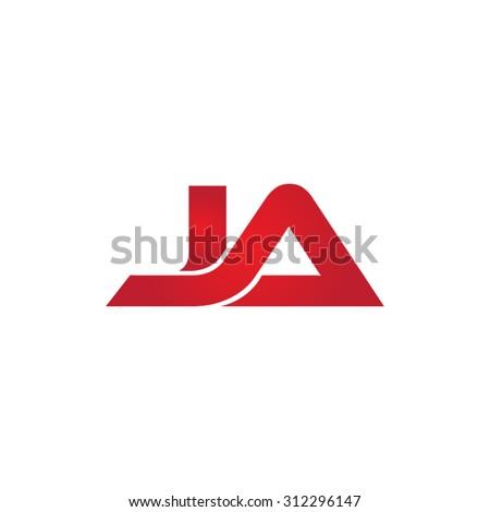 JA company linked letter logo