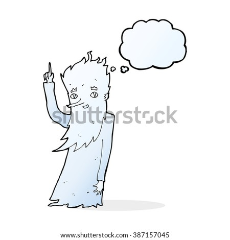 jack frost cartoon with thought
