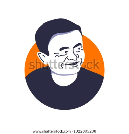 jack ma face illustration