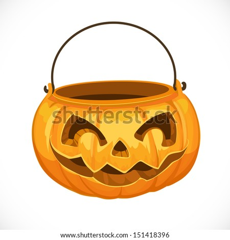 Jack O' Lantern bag for candy on Halloween
