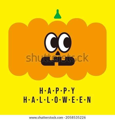 Jack-o'-lantern cute pumpkin celebrating Halloween.