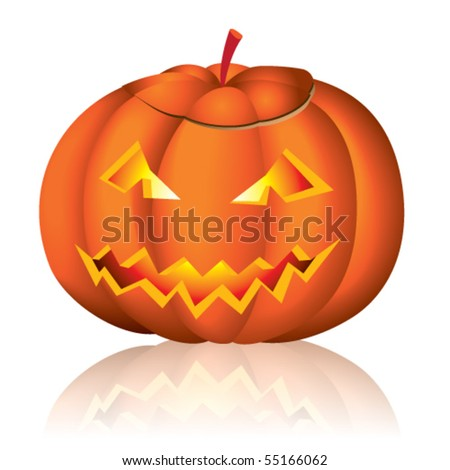 Jack-o-lantern halloween vector illustration on white background