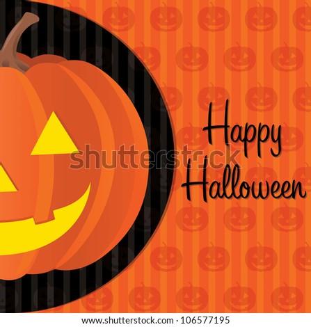 Jack o lantern Happy Halloween card in vector format.