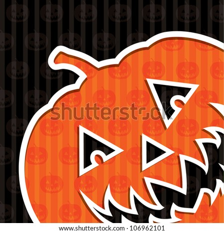 "Jack o' Lantern ""Happy Halloween"" card in vector format."