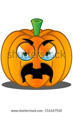 Jack-o'-Lantern Pumpkin Face - 12