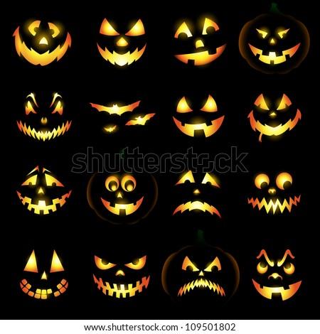 jack o lantern pumpkin faces