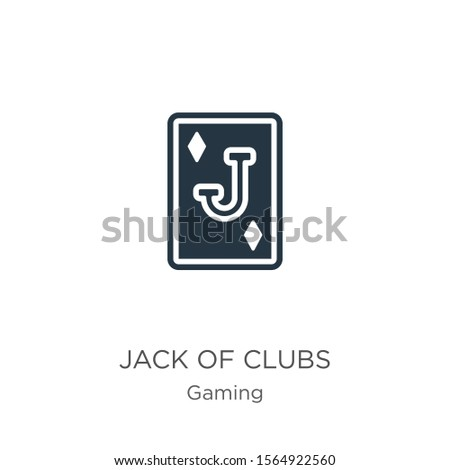 Jack of clubs icon vector. Trendy flat jack of clubs icon from gaming collection isolated on white background. Vector illustration can be used for web and mobile graphic design, logo, eps10