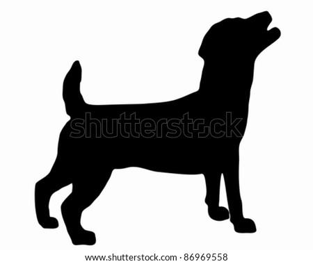Jack Russel Terrier Silhouette - stock vector