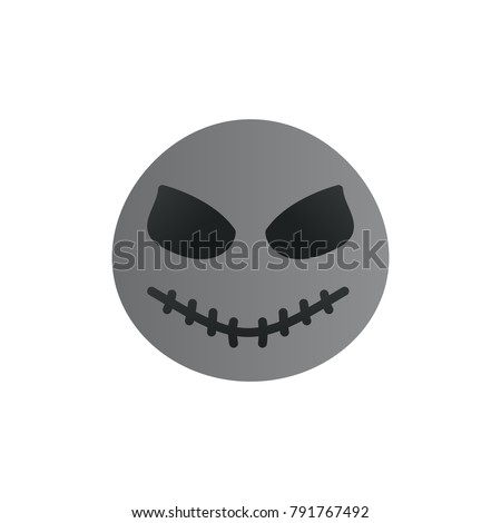 jack skellington icon flat