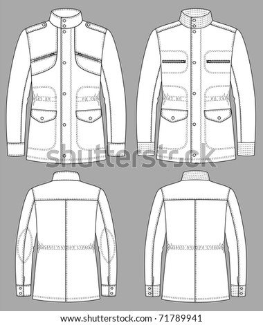 Jacket for man with a long sleeve and pockets