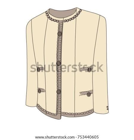 jacket like chanel on a white