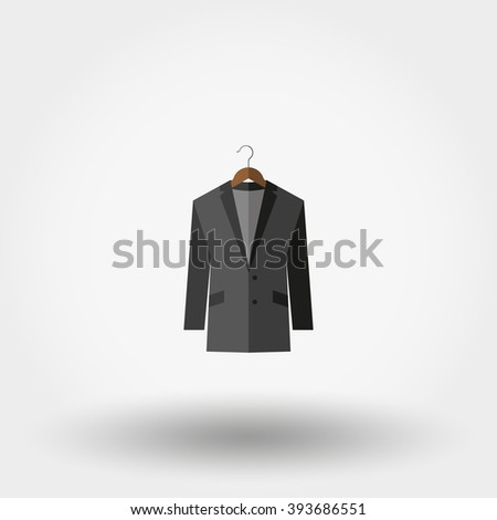 jacket on a hanger icon for