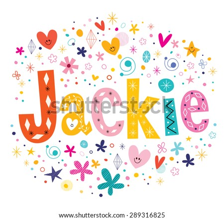 jackie girls name decorative